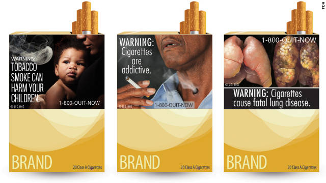 Photos on Cigarette Packages May Be Strong Smoking Deterrent