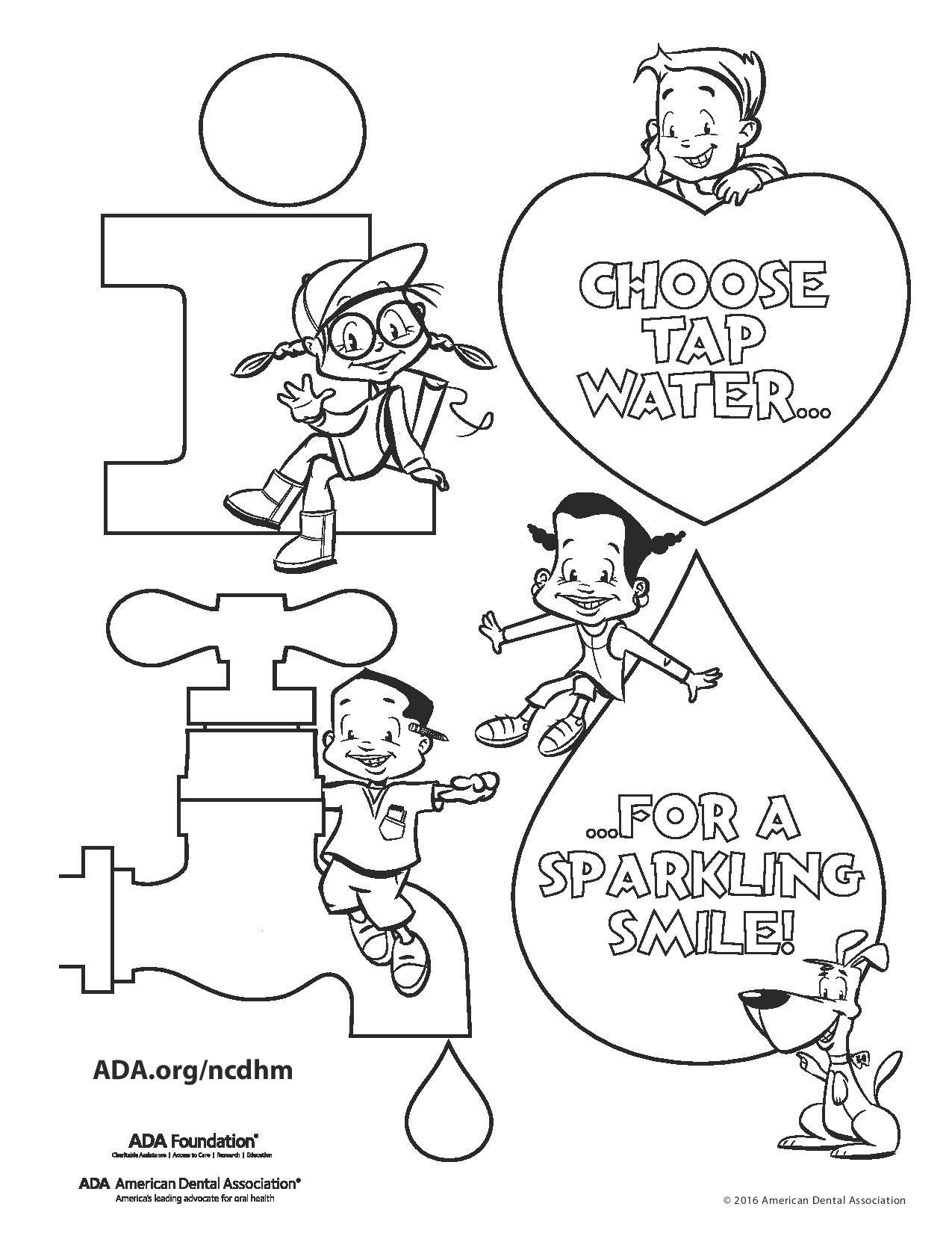 Childrens dental coloring pages - 2017 National Children S Dental Health Month Download Image Childrens Health Coloring Pages