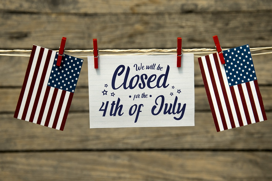 Closed for the 4th of July